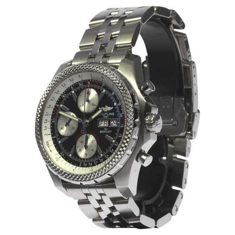 "Image of ""Breitling Bentley GT Racing A13363 Stainless Steel Black Dial"""
