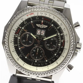 Breitling Bentley A44362 Stainless Steel Black Dial Automatic 49mm Mens Watch