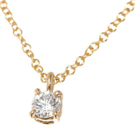Tiffany & Co. 18K Rose Gold Solitaire 0.12ct. Diamond Necklace