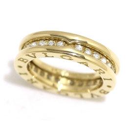 Bulgari B-Zero1 18K Yellow Gold Diamond Ring Size 3.5