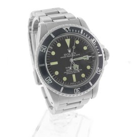 Rolex Submariner Date 1680 Stainless Steel Matte Black 40mm Mens Dive Watch