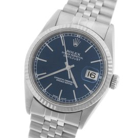 Rolex Datejust 16234 Stainless Steel & 18K White Gold Blue Jubilee 36mm Unisex Watch