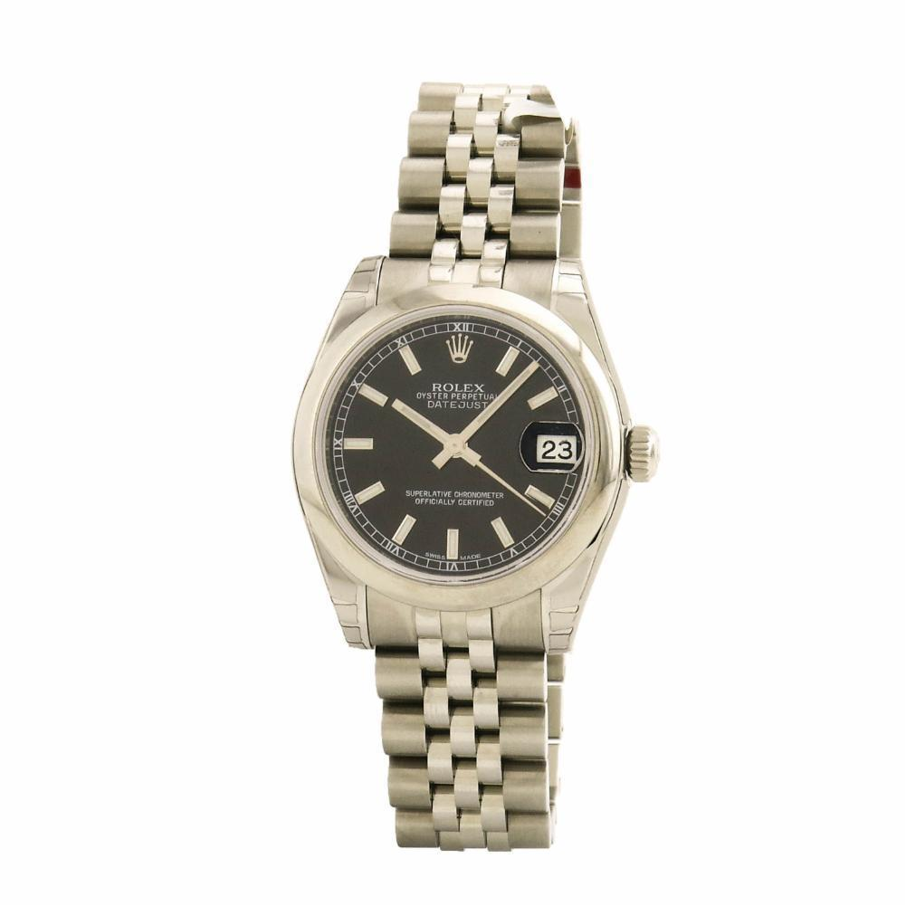 """Image of """"Rolex DateJust 178240 Stainless Steel Black Dial Automatic 31mm Womens"""""""