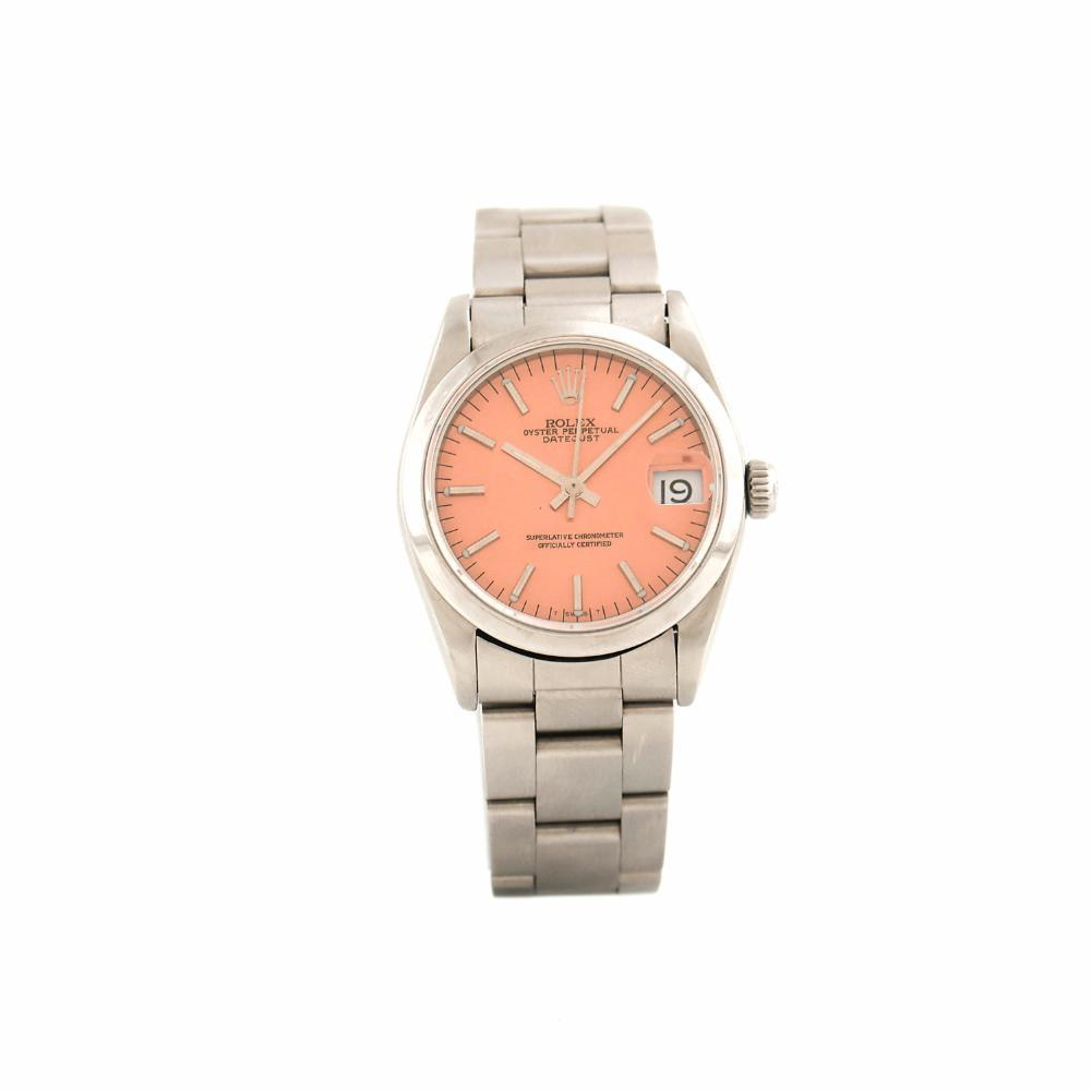 "Image of ""Rolex DateJust 68240 Stainless Steel Orange Dial 31mm Womens Watch"""