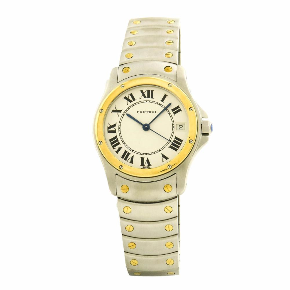 "Image of ""Cartier Ronde 1910 Stainless Steel & Yellow Gold Automatic 33mm Men's"""
