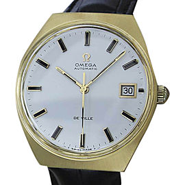 Omega DeVille Swiss Made Gold Plated Automatic 35mm Mens Watch 1970s