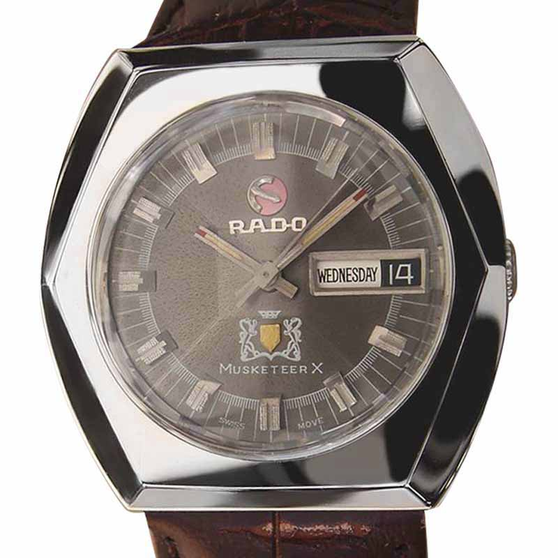 """Image of """"Rado Musketeer X Swiss Made Stainless Steel Automatic Mens 36mm Watch"""""""
