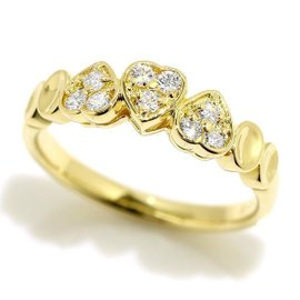 Christian Dior 18K Yellow Gold Diamond Ring Size 5.5