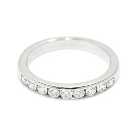 Tiffany & Co. Half 0.27ct. Diamond PT950 Platinum Band Ring Size 4.5