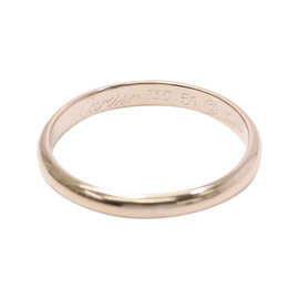 Cartier 18K Rose Gold Classic Band Ring Size 5.75