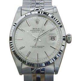 Rolex 1601 18K White Gold And Stainless Steel 36mm Mens Watch 1968