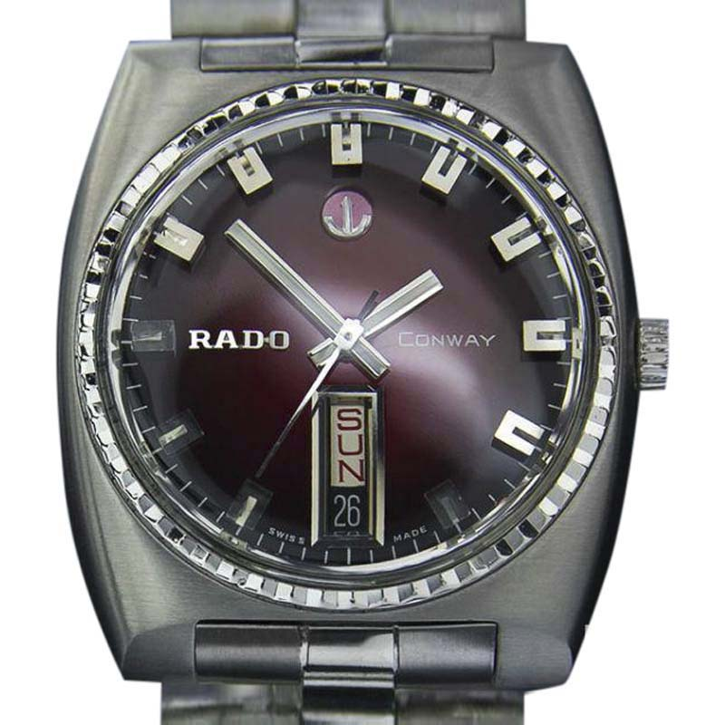 "Image of ""Rado Conway Stainless Steel Swiss Automatic 35.5mm Mens Watch c1968"""