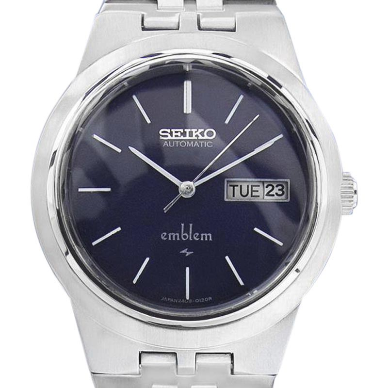"Image of ""Seiko Emblem 2409 0030 Stainless Steel Mens Automatic 35mm Mens Watch"""