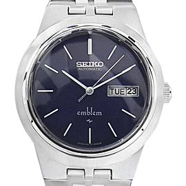 Seiko Emblem 2409 0030 Stainless Steel Mens Automatic 35mm Mens Watch 1970s