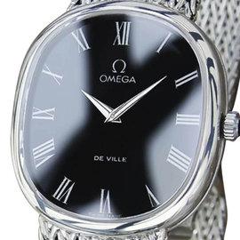 Omega DeVille 925 Sterling Silver Manual Vintage 30mm Mens Watch 1970s