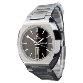 Rado Purple Gazelle Day Date Stainless Steel Automatic 35mm Mens Watch c1970s