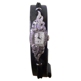 Hamilton Platinum with Diamonds 14.5mm Womens Watch 1950's