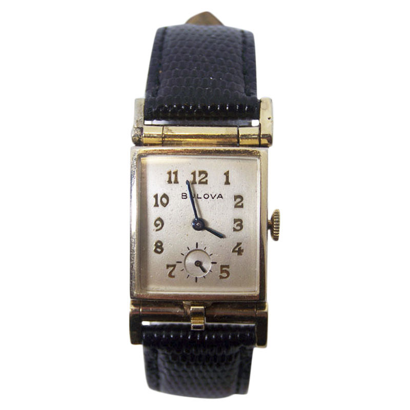 "Image of ""Bulova 10K Rolled Gold Plated Vintage 21.7mm Unisex Watch Year 1950"""