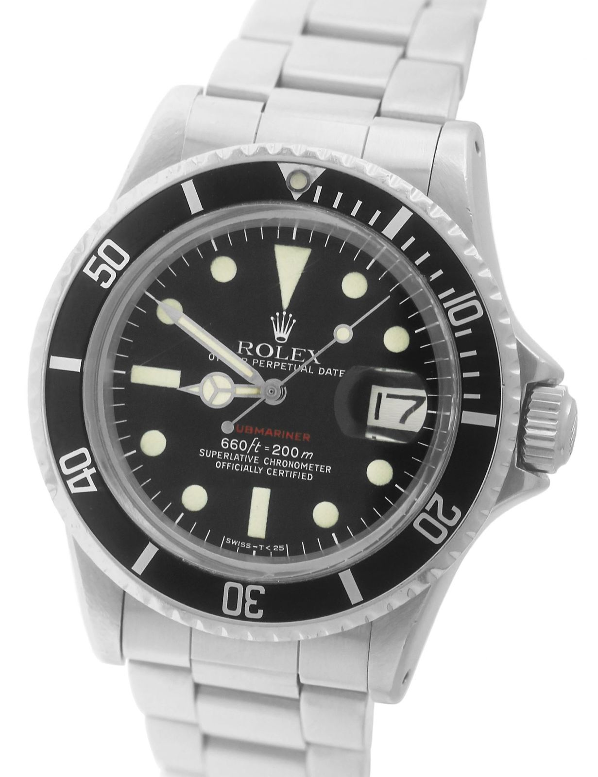 "Image of ""Rolex Submariner Date 1680 Stainless Steel Matte Red Mark MK Dive"""