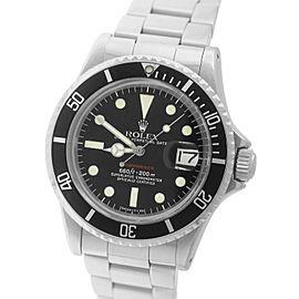 Rolex Submariner Date 1680 Stainless Steel Matte Red Mark MK Dive 40mm Mens Watch 1975