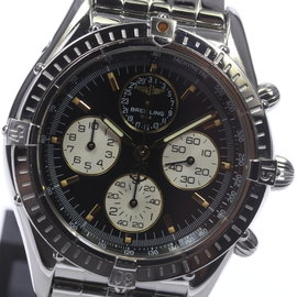 Breitling Cockpit Airborne A33012 Stainless Steel Black Dial Automatic 37mm Men's Watch