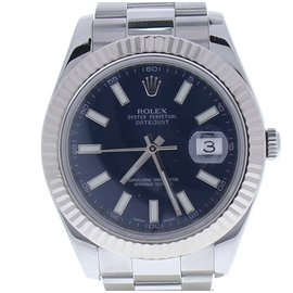 Rolex Datejust II 116334BLSO Stainless Steel & Blue Dial 41mm Mens Watch