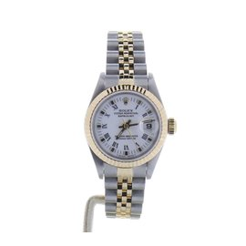 Rolex Datejust 69173 Stainless Steel & White Dial 26mm Womens Watch