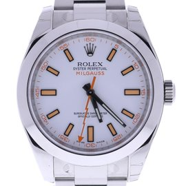 Rolex Milgauss 116400 WSO Stainless Steel & White Dial 40mm Mens Watch