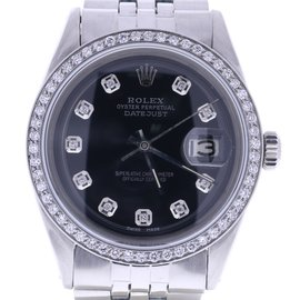 Rolex Datejust 1601 Stainless Steel & Black Dial 36mm Mens Watch
