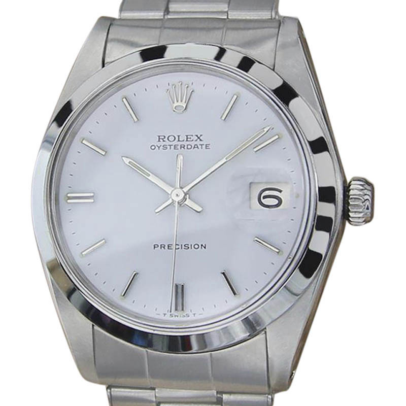"""Image of """"Rolex 6694 Oysterdate Stainless Steel Manual Vintage 35mm Mens Watch"""""""