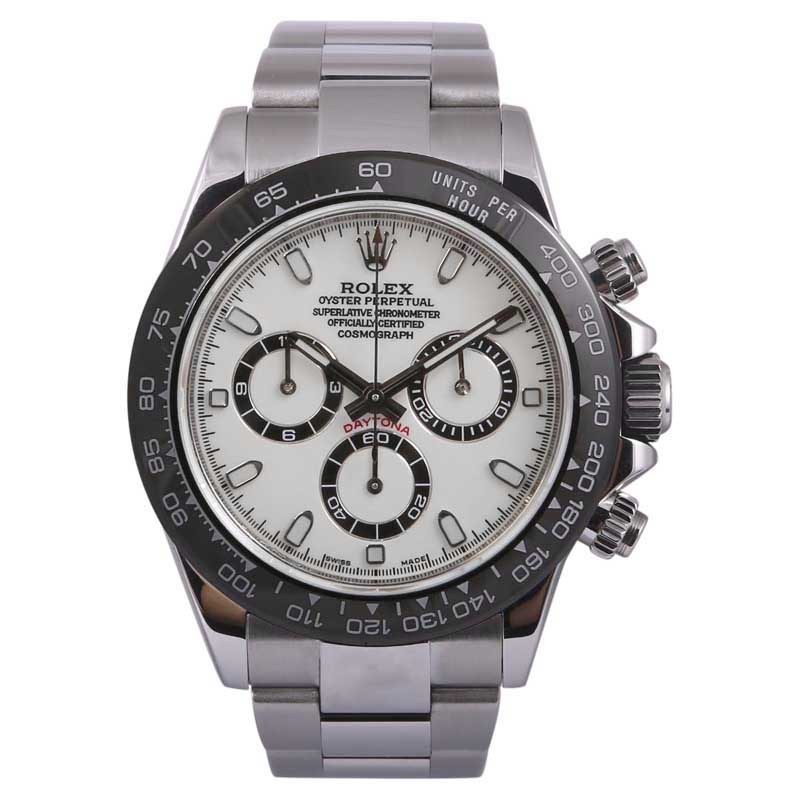 """Image of """"Rolex Daytona 116520 Stainless Steel White/Black Dial 40mm Mens Watch"""""""