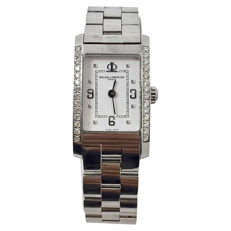 "Image of ""Baume & Mercier Hampton 65406 Stainless Steel With Diamonds Quartz"""