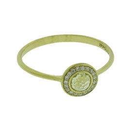 Ippolita 18K Yellow Gold with Diamonds and Citrine Mini Lollipop Ring Size 7