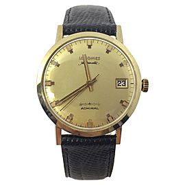 Longines Admiral 14K Yellow Gold Automatic Vintage 33.5mm Mens Watch