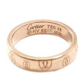 Cartier Happy Birthday 18K Pink Gold Logo Ring Size 4.5