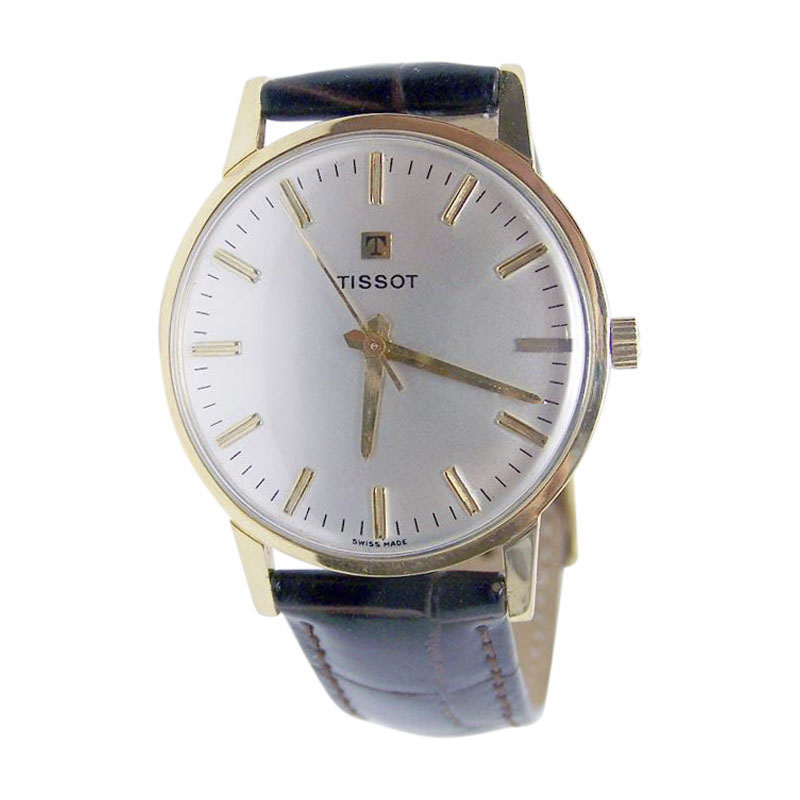 "Image of ""Tissot 18K Yellow Gold Manual Vintage 34.5mm Mens Watch"""