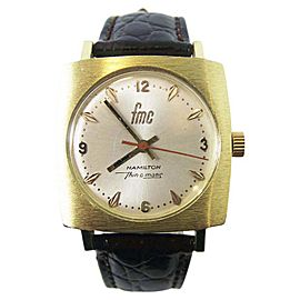 Hamilton Thin-o-Matic Yellow Gold 33.3 mm Mens Watch C.1970s
