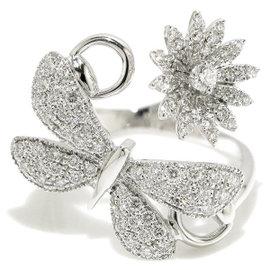 Gucci Flora 18K White Gold & Diamond Ring Size 12