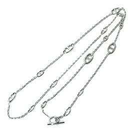 Hermes Chaine D'ancre 925 Sterling Silver Necklace