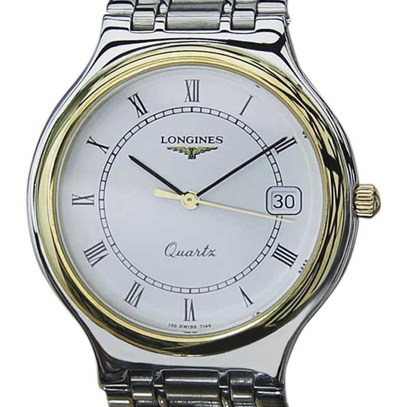 """Image of """"Longines Conquest Stainless Steel Quartz 33mm Mens Watch 1980"""""""