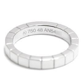 Cartier Lanieres 18K White Gold Ring Size 4.5