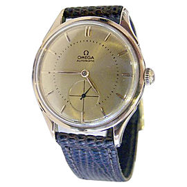 Omega 18K Rose Gold Automatic Vintage 35mm Mens Watch 1945