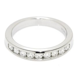 Tiffany & Co. 950 Platinum & Diamond Band Ring Size 4.5-4.75