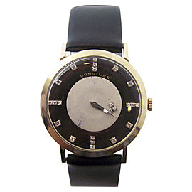 Longines 14K Yellow Gold Vintage 32.4mm Mens Watch