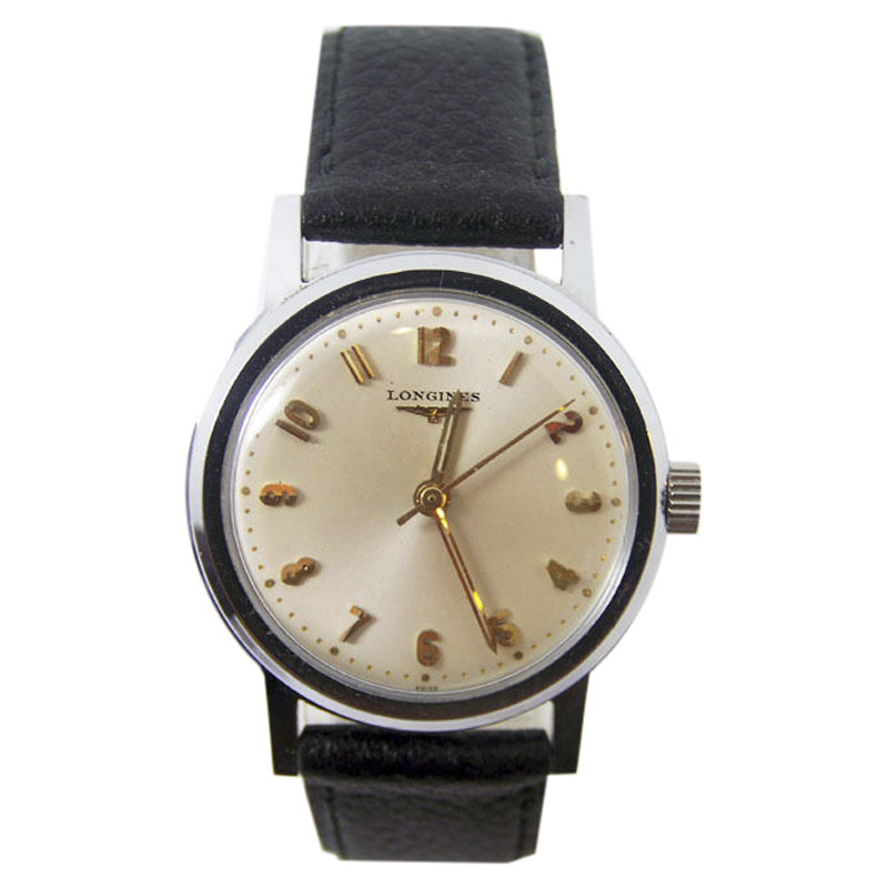 """Image of """"Longiness Stainless Steel Vintage 33.2mm Mens Watch 1960's"""""""