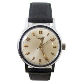 Longiness Stainless Steel Vintage 33.2mm Mens Watch 1960's