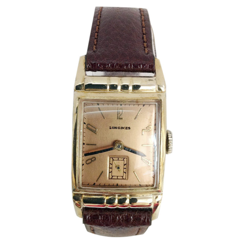 "Image of ""Longines 10K Goldfilled Vintage 21mm Mens Watch"""