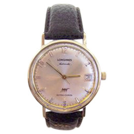 Longines Ultra-Chron 14K Yellow Gold Automatic Vintage 34.3mm Mens Watch