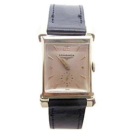 Longines 14K Yellow Gold Hand Winding Vintage 22.5mm Mens Watch