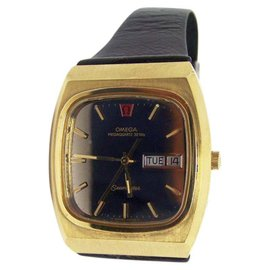 Omega Seamaster Day Date Gold Plated Stainless Steel Vintage 40mm Mens Watch